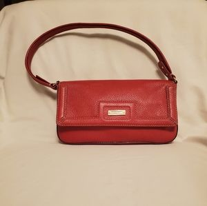 Kate Spade Red with Silver Hardware Handbag